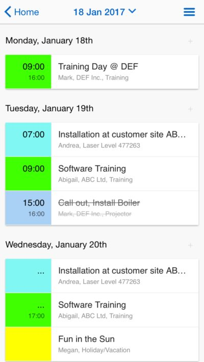 scheduling software mobile app