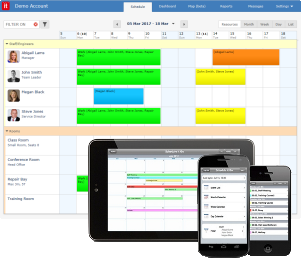 Resource scheduling software