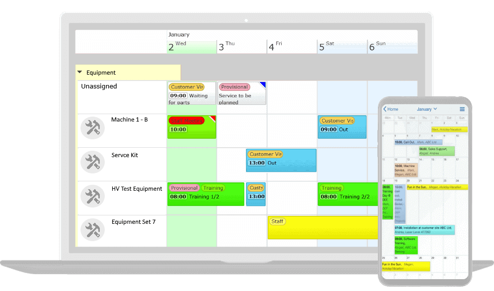 equipment scheduling software